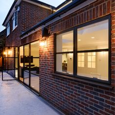The Legacy range from Sieger® Aluminium was installed to this contemporary to create a Bauhaus inspired A series of Sieger Legacy were installed alongside a Legacy Belgian door configuration. Modern Windows And Doors, Door Design, House Design, Aluminium Windows, Casement Windows, Glass Roof, House Extensions, Open Plan Living, Modern Architecture