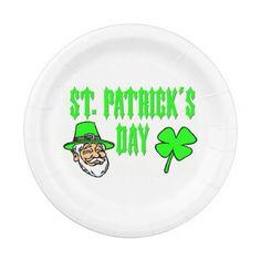 Saint Patricks Day Paper Plates
