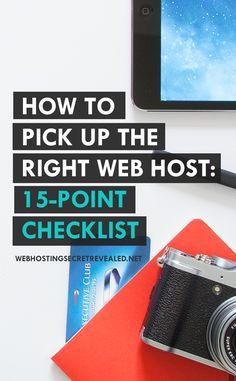 Learn how to pick the right web hosting company for your website: http://www.webhostingsecretrevealed.net/choose-the-right-web-hosting/?utm_source=twelveskip&utm_medium=link&utm_campaign=whsr  #webhost #bloggingtips #webhosting