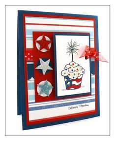 Freedom Cupcake Stamp Set Sylvana Collins 4th Of July Cards