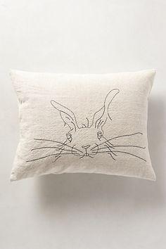 "Rabbit Pillow - anthropologie.com •Back zip •Linen; synthetic down fill •Machine wash •14"" x 18"""