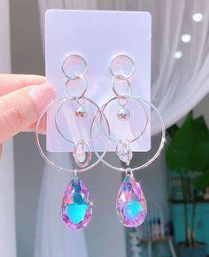 Ear Jewelry, Dainty Jewelry, Cute Jewelry, Luxury Jewelry, Jewelry Necklaces, Kawaii Jewelry, Kawaii Accessories, Jewelry Accessories, Simple Earrings