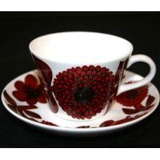 Röd Aster, Kaffegods kon Stig Lindberg
