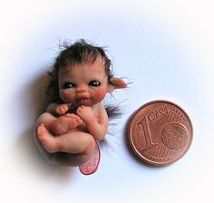 baby elf, so small, amazing work, done in clay
