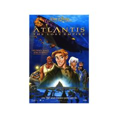 Atlantis: The Lost Empire Poster ($12) ❤ liked on Polyvore featuring home, home decor and wall art