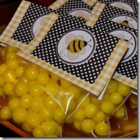 bumble bee favors {a few other bee pictures}