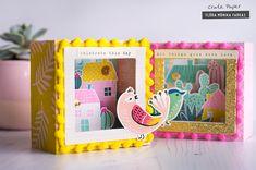 Flóra Mónika Farkas: Shadow Box Cards with Crate Paper Good Vibes
