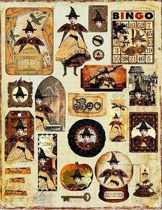 Halloween printables www.handmaiden-theblog.blogspot.com