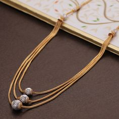 Plain Gold Necklace gms) - Fancy Jewellery for Women by Jewelegance Gold Chain Design, Gold Ring Designs, Gold Bangles Design, Gold Earrings Designs, Gold Jewellery Design, Necklace Designs, Fancy Jewellery, Silver Jewellery Indian, Diamond Jewellery
