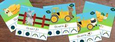 Cartes à pince - Topologie - La ferme