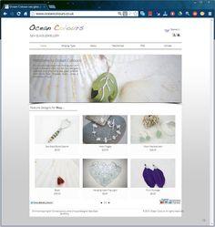 Ocean Colours Sea Glass Jewellry website