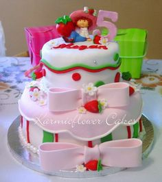 Strawberry shortcake Birthday Cake - Cake inspired by Sharons sugarshack and sugar creations.