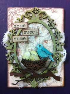 June ATC - Home Sweet Home - Dusty Attic