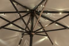 Add beautiful LED lights to your outdoor umbrella for illuminated entertaining!