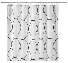 modern shower curtains by IKEA