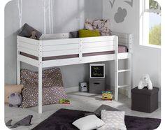 Paraiso Mid Sleeper Bed - white