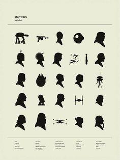 Star Wars Silhouettes Alphabet | By: Patrick Concepcion, via io9 (#starwars)