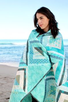 Patricia Bravo Sandy Toes Quilt Kit at Hawthorne Threads- LOVE AQUA!