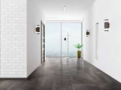 For floors and walls our CLAYSTONE #porcelain #tile is the ideal accompaniment for your sleek metropolitan spaces! #interiordesign #commercialdesign by giotile