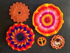 Circles made in Palette Circles and Webs, for the Artisphere Yarn Bomb! Yarn Bombing, Circles, Crochet Earrings, Palette, Projects, How To Make, Log Projects, Blue Prints, Pallets