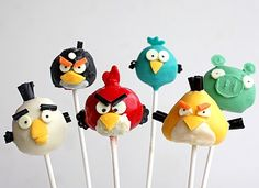 How to:: Angry Birds Cake pop