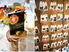 """rustic wedding ideas - print everyone names on faux seed packets, then make the table """"#'s"""" the image on the packet for easy recognition"""