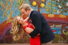 Adorable outdoor engagement photos in Dallas Arts District - Photo by Amy Karp Photography