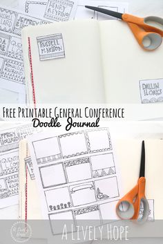 A Lively Hope: LDS Conference Doodle Journal (Free Printable!)