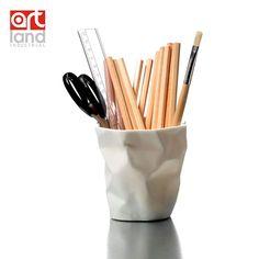 Pen container miniature,Modern office pencil jar,1/6 Scale iconic Min Binbin miniature