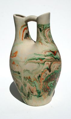 Nemadji Native American Indian Pottery Sand Jug  - Wedding Vase - signed pottery. $58.00, via Etsy.
