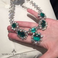 Good morning world! No better way at to celebrate the begging of #BaselWorld2017 than wearing @baycojewels Old Mine Colombian emeralds! Be sure to visit them to see the most exceptional stones in the world!! ❤ Credit: @gartsevanataliya for www.margoraffaelli.com #margolovesbayco #margolovesemeralds