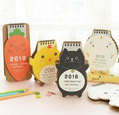 Mini calendrier de bureau 2018 imprim sur carton pais de