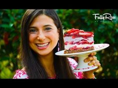 Raw vegan strawberry shortcake! The perfect dessert to make for your loved ones or even yourself! 7 layers of sweet, fluffy heaven! BE MINE?!  A special Valentine's Cake to make for your loved ones or even for yourself! This recipe of EPIC MEAL TIME proportions will win the heart of...
