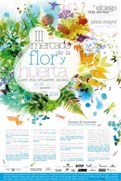 Cartel para el III Mercado de la flor y huerta.... Elciego... este fin de semana....