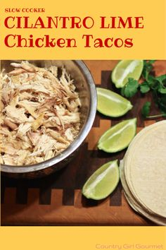 Are you looking for an easy dinner idea for busy nights? Try these Slow Cooker Cilantro Lime Chicken Tacos!