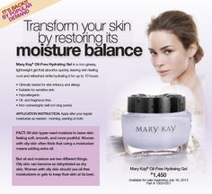 Mary Kay® Oil-Free Hydrating Gel is a nongreasy, lightweight gel that absorbs q. Mary Kay Moisturizer, Mary Kay Malaysia, Mary Kay Cosmetics, Beauty Consultant, Green Tea Extract, Maybelline, Sephora, Fragrance, Skin Care