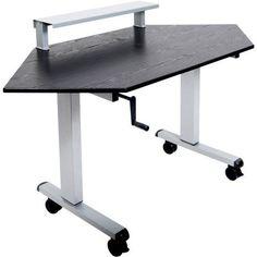 Luxor Standing Corner Desk, Black