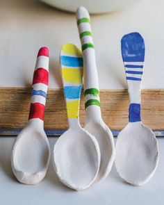 These spoons are so cute and really easy to make. I use them for salt and pepper bowls.