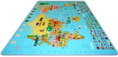 Giant Foam World Map Puzzle