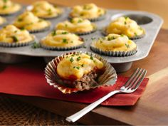 Meat Loaf and Potato Cupcakes from FoodNetwork.com