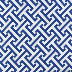 Cross Section Blue Bonnett Greek Key Drapery Fabric - 45404 - Buy Fabrics - Buy Discount Designer Fabrics | BuyFabrics.com