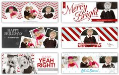 FREE Christmas Facebook TEMPLATES from The Album Cafe