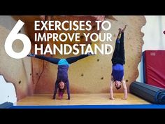 6 exercises to improve your handstands!!!