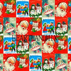 Vintage Christmas Wrap X 3 Sheets Funny by Dean Morris Cards Vintage Christmas Wrapping Paper, Vintage Christmas Images, Christmas Gift Wrapping, Christmas Paper, Retro Christmas, Santa Christmas, Vintage Holiday, Christmas Time, Images Noêl Vintages
