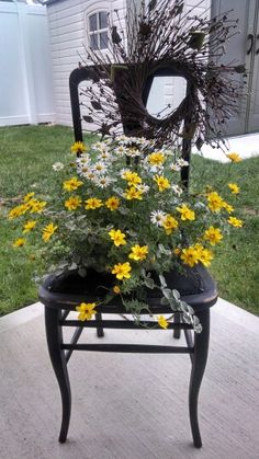 Outdoor chair planter