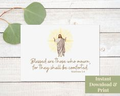 Religious Sympathy Card, Condolence Card Printable, Christian Sympathy Card, Sympathy Card Printable, With Sympathy, Blessed Those Who Mourn Congratulations Baby Boy, Printable Cards, Printables, Blessed Are Those, Retirement Cards, New Baby Cards, Condolences, Sympathy Cards, New Baby Products