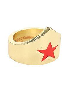 DC Comics Wonder Woman Tiara Ring,