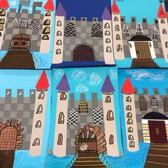 grade Castles from weaving! Moats, flags and drawbridges added. Love is in the details! Elementary Art Rooms, Art Lessons Elementary, Paper Weaving, Weaving Art, Projects For Kids, Art Projects, Project Ideas, 3rd Grade Art Lesson, Primary School Art