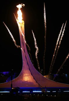Sochi Opening Ceremony - The Olympic flame is lit during the Opening Ceremony of the Sochi 2014 Winter Olympics at Fisht Olympic Stadium on February 7, 2014 in Sochi, Russia. (Photo by Richard Heathcote/Getty Images)