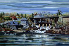 "Bracebridge Falls, Bracebridge, Ontario, 16"" x 20"" - Limited Edition of 50 - Canadian Art"